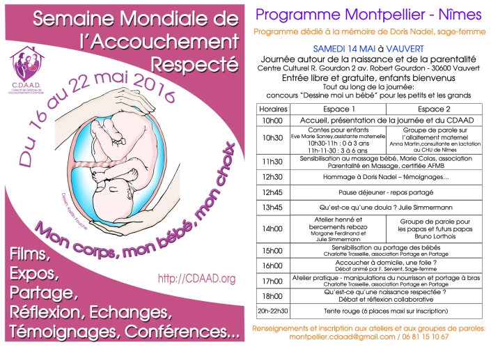 Affiche Smar 2016 programme Montpellier nîmes